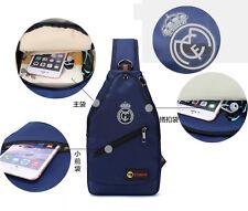 FOR Real Madrid soccer sport  fans Shoulder Bag nylon Blue Casual Chest BackPack