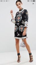 ASOS Tall Curve BRAND NEW PREMIUM Embroidered SHIFT Tunic Dress UK 20 US 16 E 48
