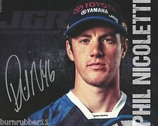 "SIGNED 2016 PHIL NICOLETTI ""JOE GIBBS RACING YAMAHA"" #46 AMA SUPERCROSS POSTCARD"