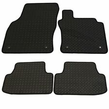 Ford Focus Mk2 2005-2011 Tailored  Rubber Car Mat Set Black With Black Trim
