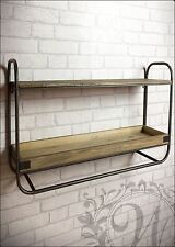Retro Vintage Industrial Style Metal Shelf Storage Cabinet Cupboard Wood Unit