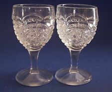 Aperitif Cut Glass Vintage Set of 2 Cordial Barware 4 inches tall