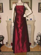 Wine red After Six prom party cocktail ball dress USA 14