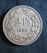 Munt Zwitserland/Switzerland/Schweiz: 2 Fr.1939 B (zilver)