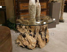 Teak Driftwood Cocktail Coffee Table Nautical Beach House Cottage Natural Wood