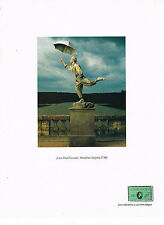 PUBLICITE ADVERTISING  1991   AMERICAN EXPRESS  carte JEAN PAUL GOUDE