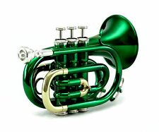 Guarantee Quality Sound Band Green Pocket Trumpet *Back-To-School-20-Days-Sale*