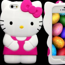 Case for Apple iPhone 5 S 5S SE Hello Kitty Skin  Silicone 3D Pink