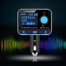 Wireless Bluetooth Car Kit FM Transmitter MP3 Player LCD USB Charger Remote Blue