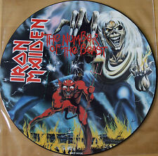 1982 ORIGINAL IRON MAIDEN NUMBER OF THE BEAST VINYL LP PICTURE DISC EMCP 3400