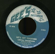 "LINVAL THOMPSON 7"" - Let's Get Together - Gee's Records"