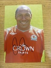 circa 2000's Autograph: Blackburn Rovers - Brown, Jason [Hand Signed Glossy Phot