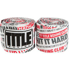 """Title Boxing 180"""" Select Semi-Elastic Mexican Style Handwraps - Hit It Hard Red"""