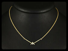 Filigranes Brillant Collier mit ca. 0,04ct   585/- Gelbgold