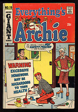 Everything's Archie (1969) #19 1st print DeCarlo National Diamond Sales VG/FN