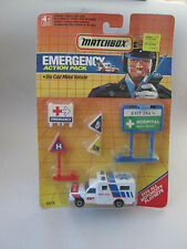 1990 Matchbox Emergency Action Pack Ambulance Truck Hospital Signs #50110 NOC