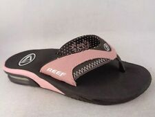 REEF Women Sandals Thongs Slides Size 6M Brown Pink New! bed