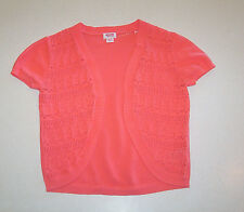 Womens Mossimo Lacy Bolero Orange Cotton Sweater X-Small
