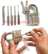 Unlocking tools / crochetage lockpicking locksmith Lock Pick Set + Padlock !!!