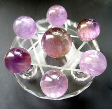 Natural Amethyst Ball CRYSTAL Seven star array Healing + Chassis (glass)