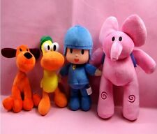 NEW Set Of 4pcs Pocoyo Elly Pato Loula Plush Stuffed Figure Toy Doll