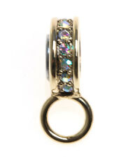 KIRKS FOLLY  CHARM HOLDER TO USE WITH THE MAGNETIC NECKLACES!  GOLDTONE ~