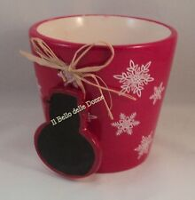 SIA Home Fashion JAR terracotta red white with decorations christmas blackboard