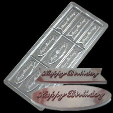3 D Happy Birthday PC Polycarbonate Chocolate Mold Hard Candy Tray Mould