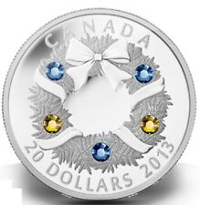 2013 $20 FINE SILVER COIN - HOLIDAY WREATH