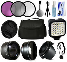 Lens Accessories Case LED Light Kit for Nikon D5500 D5300 D5200 D3300 D3200 DSLR
