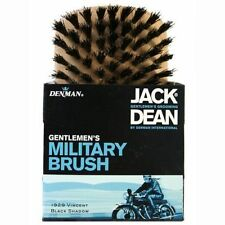 DENMAN Jack Dean MILITARY Gentleman Natural Bristle MENS Wooden Brush LIGHT WOOD