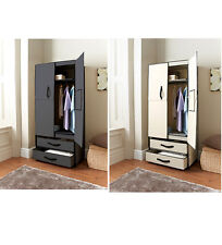DELUXE DOUBLE CANVAS WARDROBE WITH OPENING DOORS DRAWER HIGH QUALITY NEW