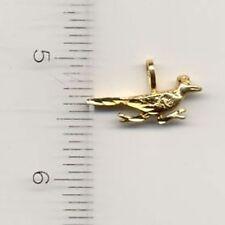 14KT GOLD EP SMALL ROADRUNNER CHARM - 2171