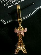 BRIGHTON MY FLAT IN LONDON MFIL PRETTY PARIS EIFFEL TOWER PINK BOW CRYSTAL CHARM