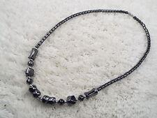 Hemetite Stone Bead Necklace (D56)