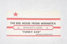 x1 Spaghetti Head Jukebox Title Strip The Big Noise From Winnetka & Funky Axe