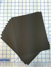Set Of 20 11x14 Uncut Photo Picture Mats Acid Free 4-ply BLACK with White Core