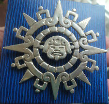 Unusual LARGE Mexican Sterling Silver Pendant & Brooch  -  Taxco Mexico c.1970s