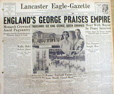1937 headline newspaper w pictures GEORGE VI CORONATION - KING of BRITISH EMPIRE