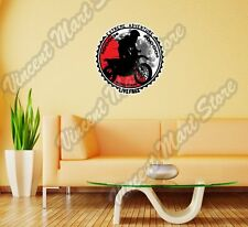 "Extreme Adventure Live Free Dirt Bike Wall Sticker Room Interior Decor 22""X22"""