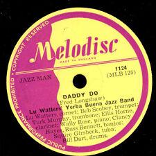 Lu WATTER 's Yerba Buena Jazz Band Daddy Do/milenberg Joys 78rpm x375
