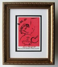 "CHAGALL Antique Musee de Arts Exhibition Poster ""Royal Design"" SIGNED Framed COA"