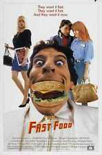 Fast Food Poster 01 Metal Sign A4 12x8 Aluminium
