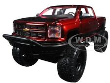 2014 CHEVROLET SILVERADO PICKUP TRUCK RED OFF ROAD 1/24 DIECAST BY JADA 97477