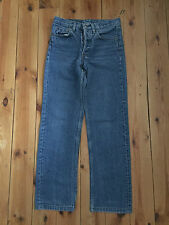 LEVIS 501 RED TAB MENS BLUE DISTRESSED DENIM STRAIGHT LEG JEANS W28 L32