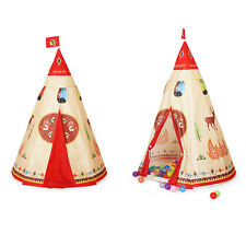 Childrens Kids Teepee Indian History Pop-up Play Tent Indoor Outdoor Play Toy