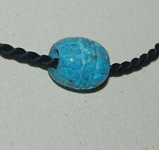CARVED HUBEI TURQUOISE BARREL BEAD - 19X20MM