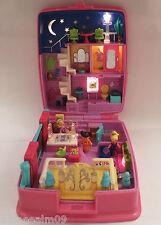 Mini Polly Pocket Star Bright Dinner Party 100% Komplett Haus Traumwohnung Licht