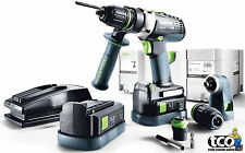Festool Quadrive PDC 18/4 Li 5.2-Set Cordless Combi Drill in Systainer - 564581