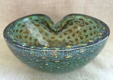 BELLISSIMO MURANO biomorphic Art Glass Bowl / PORTACENERE 1950 / 60s Barbini / Seguso